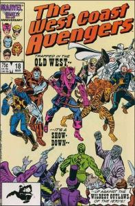 Marvel WEST COAST AVENGERS (1985 Series) #18 VF+