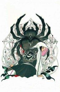 Demon Days: Cursed Web #1 MIDTOWN COMICS EXCLUSIVE PEACH MOMOKO VIRGIN VARIANT.