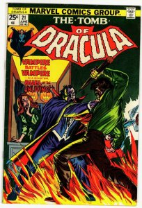 TOMB OF DRACULA #21 (6.0-6.5) Marvel Comics Bronze Age Horror