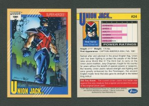 1991 Marvel Comics II  Card  #24 ( Union Jack )  MINT