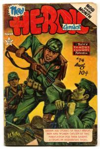 Heroic Comics #74 1952- Golden Age war comic VG-