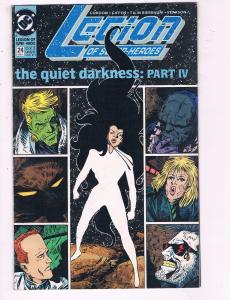 Legion Of Superheroes #24 VF DC The Quiet Darkness Part IV Comic Book 1989 DE9