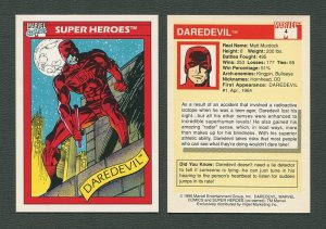 1990 Marvel Comics Card  #4  (Daredevil)  MINT