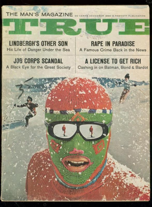TRUE MAG-DEC 1966-SLOT CARS-007-BARDOT-LINDBERGH-PULP! G