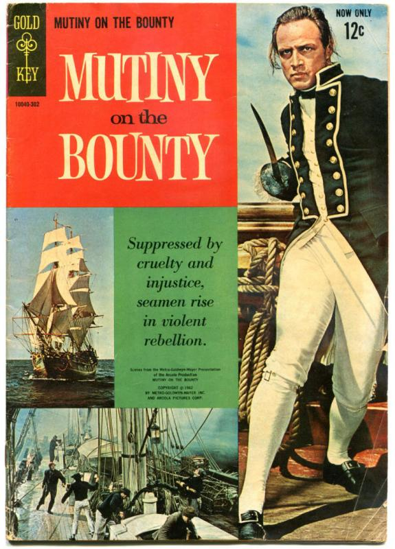 MUTINY on the BOUNTY #1, VG/FN, Gold Key, Marlon Brando, 1962 more TV in store
