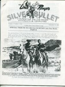 Lone Ranger Silver Bullet Newsletter #44 9/1998-Xerox format-limited printing-FN