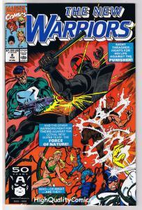 NEW WARRIORS 8, NM+, Punisher, Nova, Night Thrasher, 1990, more Marvel in store