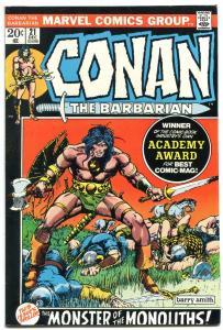 CONAN THE BARBARIAN #21 1972-MARVEL COMICS F/VF