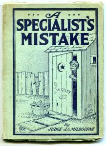 A Specialist's Mistake 1935- early joke book Rare