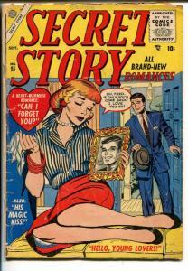Secret Story Romances #15 1955-Vince Colletta -Girl In A Mask G