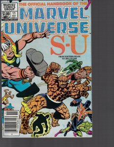 Official Handbook Of The Marvel Universe #11  (Marvel, 1983) NM