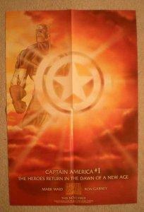 CAPTAIN AMERICA #1 Promo Poster, 12x18, 1997, Unused, more Promos in store