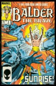 BALDER THE BRAVE #4 1986-MARVEL COMICS-LIMITED SERIES VF