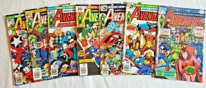 Avengers 1976 #148,148,149,150,151,152,153 LOT price on all 7  VF/NM