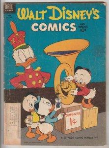 Comics and Stories, Walt Disney's #154 (Jul-53) VG/FN Mid-Grade Donald Duck, ...