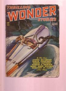 THRILLING WONDER STORIES-OCT 1947-HEINLEIN-KUTTNER PULP VG