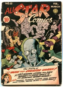 All Star Comics #15- SIGNED BY SHELDON MOLDOFF- 1st Brain Wave G