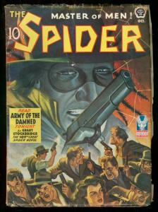 THE SPIDER OCT 1942 ARMY OF THE DAMNED STOCKBRIDGE #109 VG+