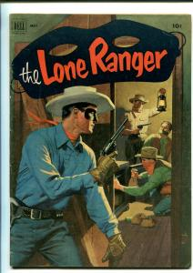 LONE RANGER #47-1952-DELL-WESTERN-RADIO-TV-SECRET IDENTITY-THRILLS-vg/fn