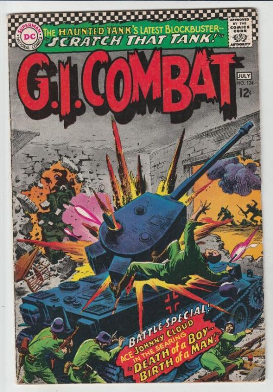G.I. Combat #124 (Jul-67) VF High-Grade The Haunted Tank