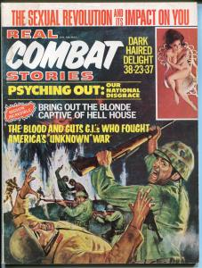 Real Combat Stories 1/1971 Reese-spicy pulp interior art-LSD-cheesecake-G/VG