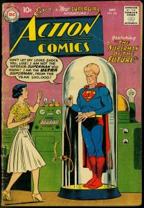 ACTION COMICS #256 1959-SUPERMAN LOF THE FUTURE-S'GIRL  G