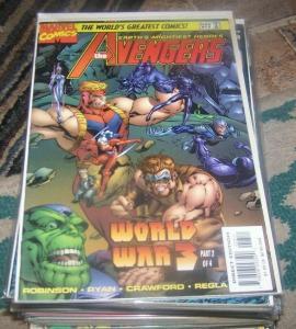 Avengers # 13 1987 Marvel world war 3 pt 2 skrulls end of onslaught universe