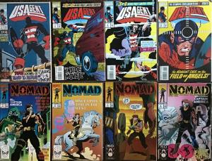 USAGENT NOMAD 1ST MINI SERIES.MARVEL BOTH COMPLETE.8 BOOK LOT NM PRIMO CONDITION