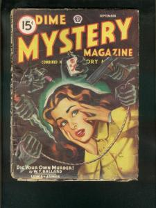 DIME MYSTERY PULP 9/46-WILD GOOD GIRL ART- FR/G
