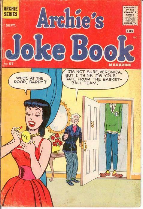 ARCHIES JOKE BOOK (1954-1982)57 G-VG Sept. 1961 COMICS BOOK