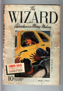 THE WIZARD 1941 FEB-#3-STREET AND SMITH HERO PULP G