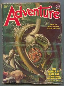 Adventure Pulp May 1950- Pearls of Matu Hao VG