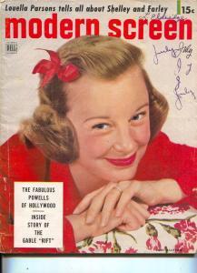 Modern Screen-June Allyson-Dick Powell-Audie Murphy-July-1951
