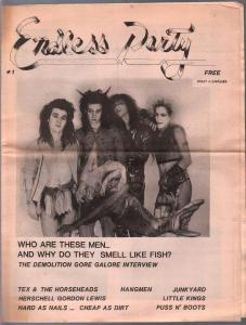 Endless Party #1 1971-underground newspsper-Hollywood-1st issue-FN