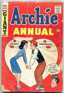 Archie Annual #13 1961- Betty & Veronica- Giant issue FAIR