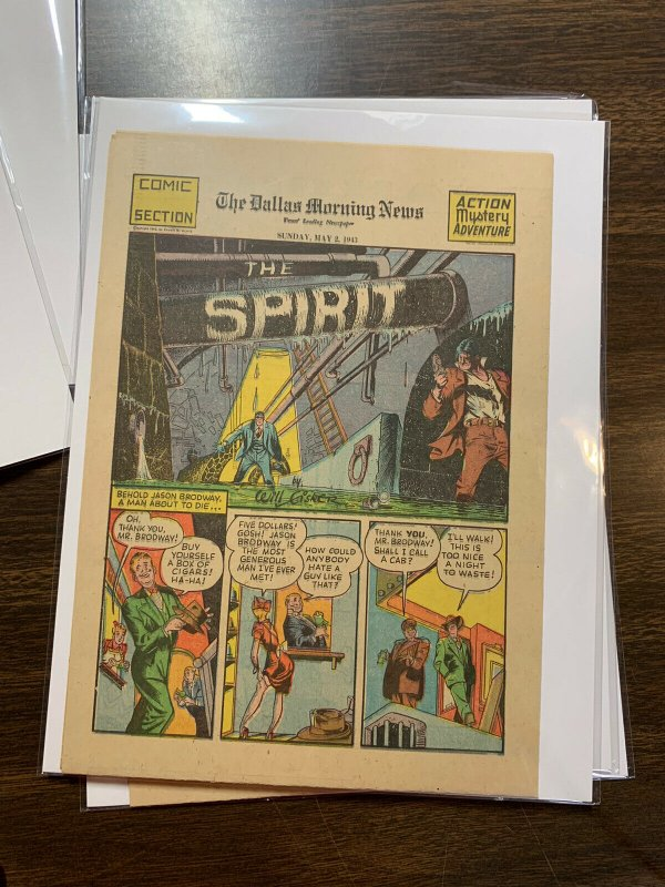 The Spirit Comic Book Section Newspaper Very Fine Or Better 1943 May 2
