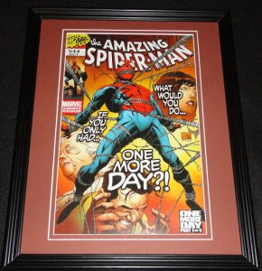 Amazing Spider-Man #544 Marvel Framed Cover Photo Poster 11x14 Official Repro
