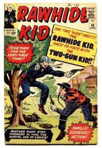 Rawhide Kid #40 comic book 1964- Marvel Western- Jack Kirby- FN