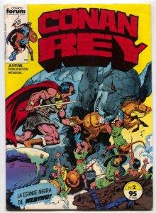 Conan Rey #2 1984- SPANISH COMIC- Marvel FN-