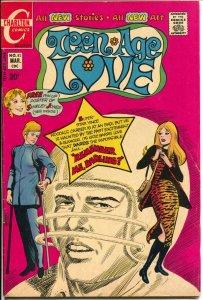 Teen-Age Love #82 1972-Charlton-Jonnie Love-spicy art-football injury-VG+