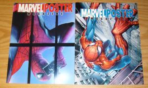 Marvel Poster Magazine #1-2 VF/NM complete series - j. scott campbell  alex ross