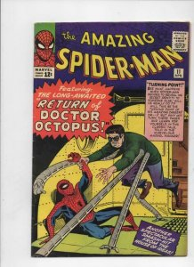 AMAZING SPIDER-MAN #11, VF, Steve Ditko, Dr Octopus, 1963 1964,more ASM in store
