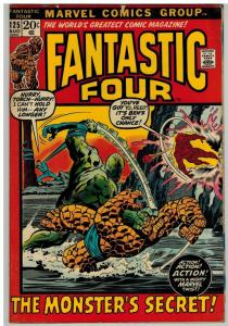FANTASTIC FOUR 125 G-VG Aug. 1972