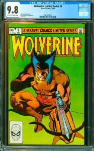 Wolverine Limited Series #4 CGC Graded 9.8