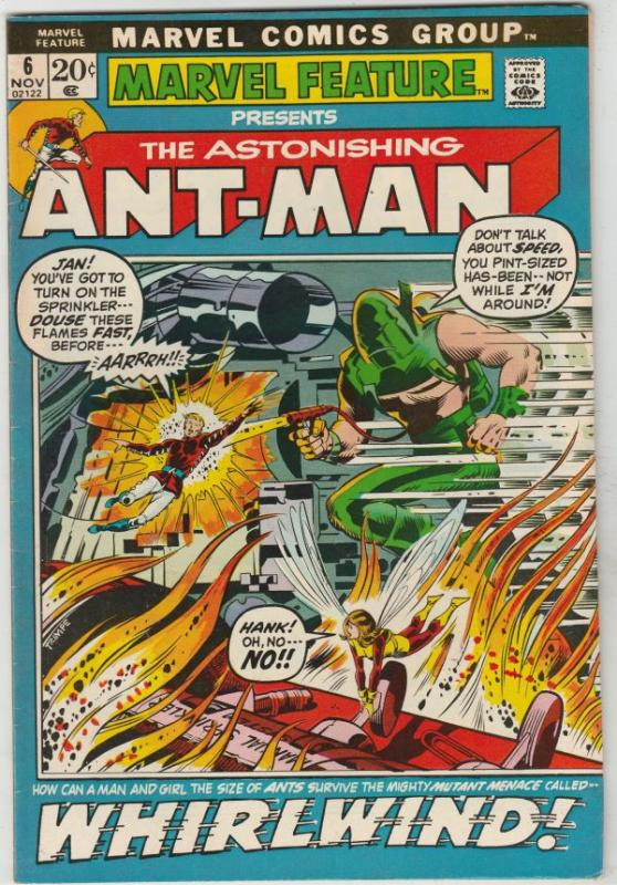 Marvel Feature presents Ant-Man, The Astonishing #6 (Nov-72) FN/VF Mid-High-G...