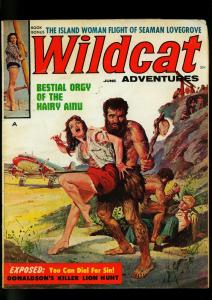 Wildcat Adventures Pulp Magazine June 1960- Basil Gogos Caveman - Cheesecake- VG