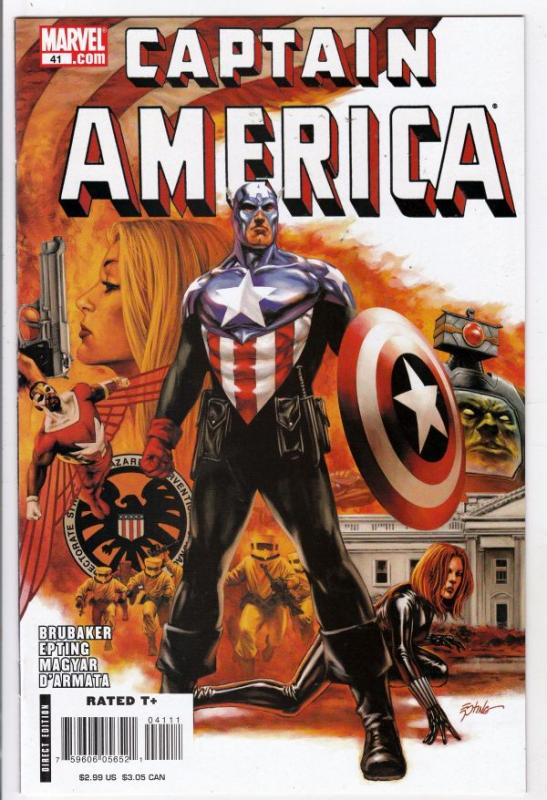 Captain America #41 (Oct-08) NM+ Super-High-Grade Captain America aka Bucky B...