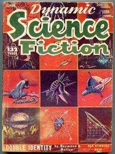 Dynamic Science Fiction Pulp June 1953- Skull  cover- Raymond Gallun G