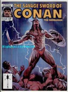 SAVAGE SWORD of CONAN #138, FN+, Kull the Conqueror,Jusko, Joe Jusko, Erne Chan