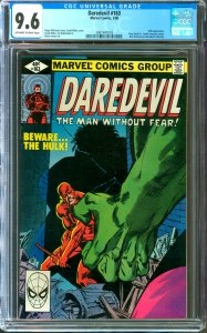 Daredevil #163 CGC Graded 9.6 Hulk appearance